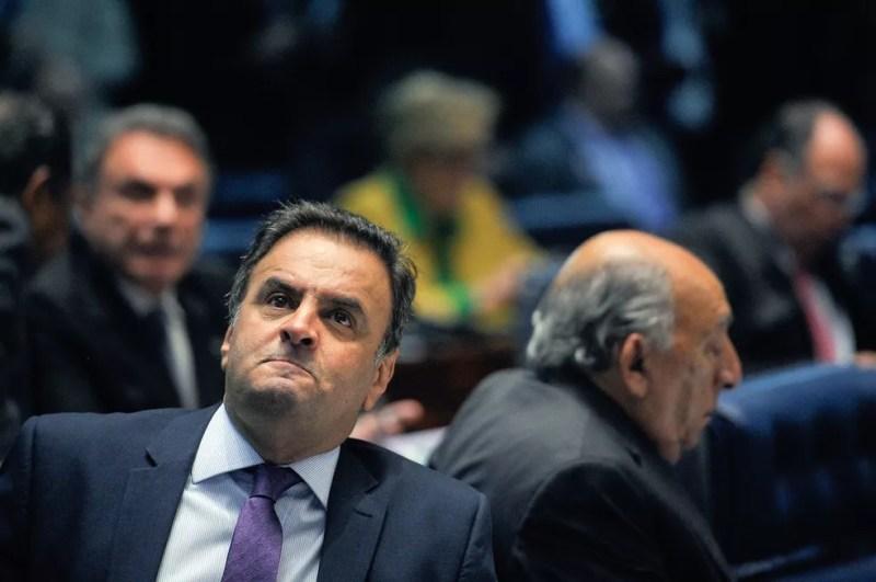 O deputado federal Aécio Neves (PSDB-MG) quando ainda era senador da República — Foto: Pedro França/Agência Senado
