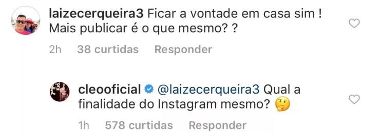 Cleo Pires rebate seguidores (Foto: Reprodução/Instagram)