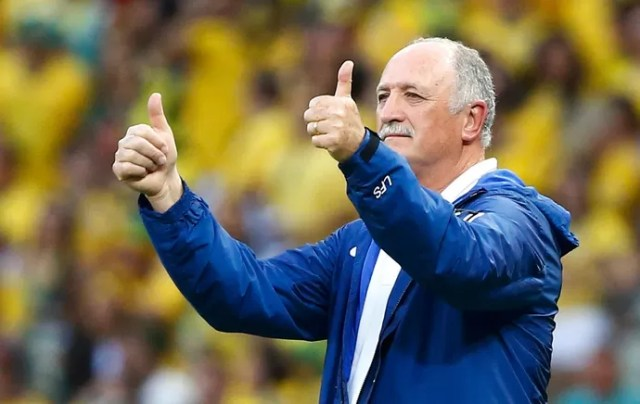 Felipão jogo Brasil x Colômbia (Foto: Reuters)