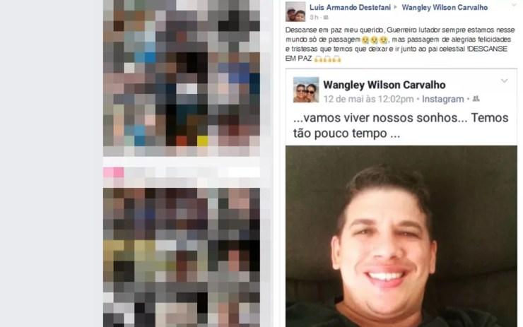 Amigos lamentaram a morte do estudante nas redes sociais (Foto: Reprodução/Facebook)
