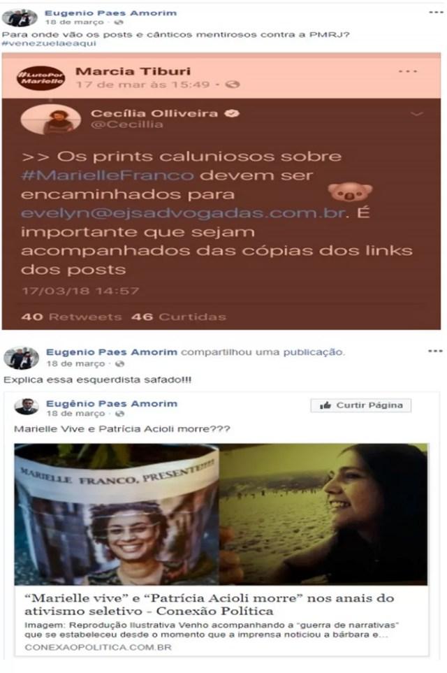 Amorim sofreu punição por publicações de março de 2018 — Foto: Facebook/Reprodução