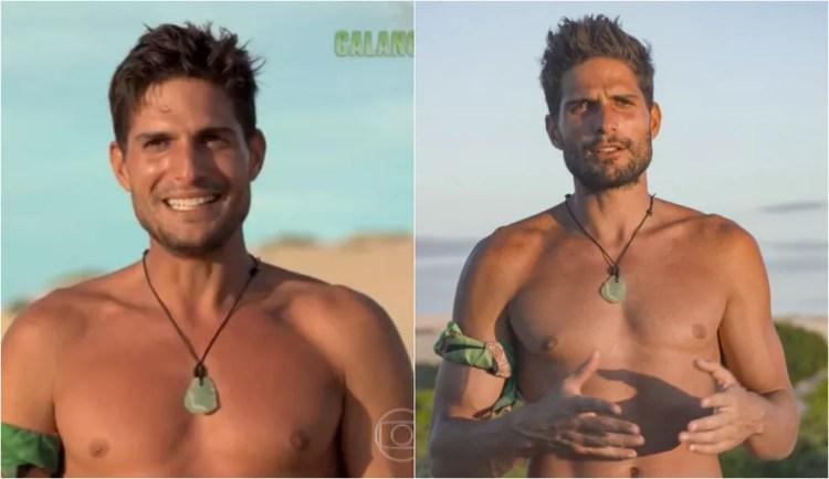 O antes e depois de André no 'No Limite'  — Foto: Globo
