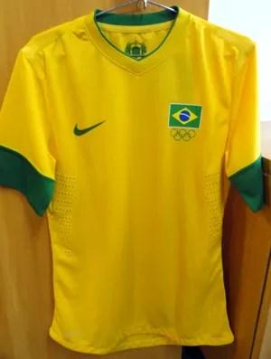 Camisa da Seleção Olimpíadas (Foto: Márcio Iannacca / Globoesporte.com)