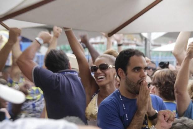 Ana Paula Evangelista na apuração dos desfiles do grupo especial do Rio (Foto: Isac Luz / EGO)