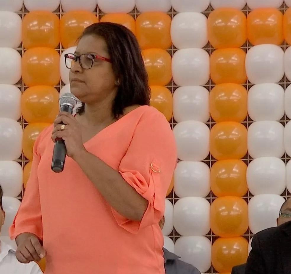 Gisela Simona, candidata ao Senado — Foto: TVCA/Reprodução