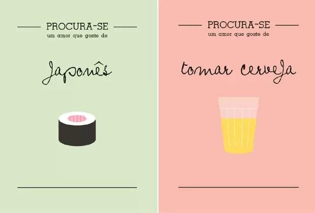 OS DOIS PRIMEIROS PÔSTERES CRIADOS PELA DESIGNER (Foto: Reprodução)