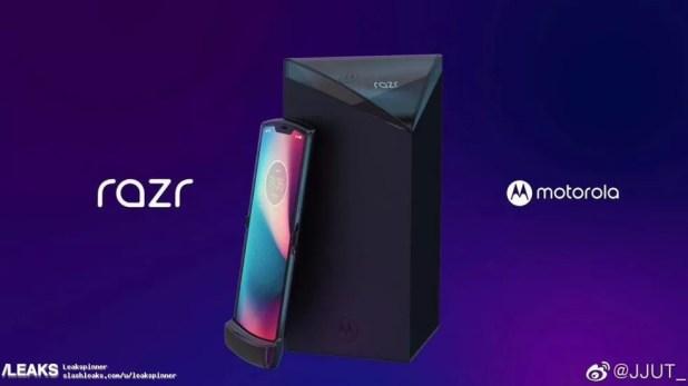 Imagem que vazou do suposto telefone dobrável  RAZR da Motorola — Foto: Reprodução / Slashleaks