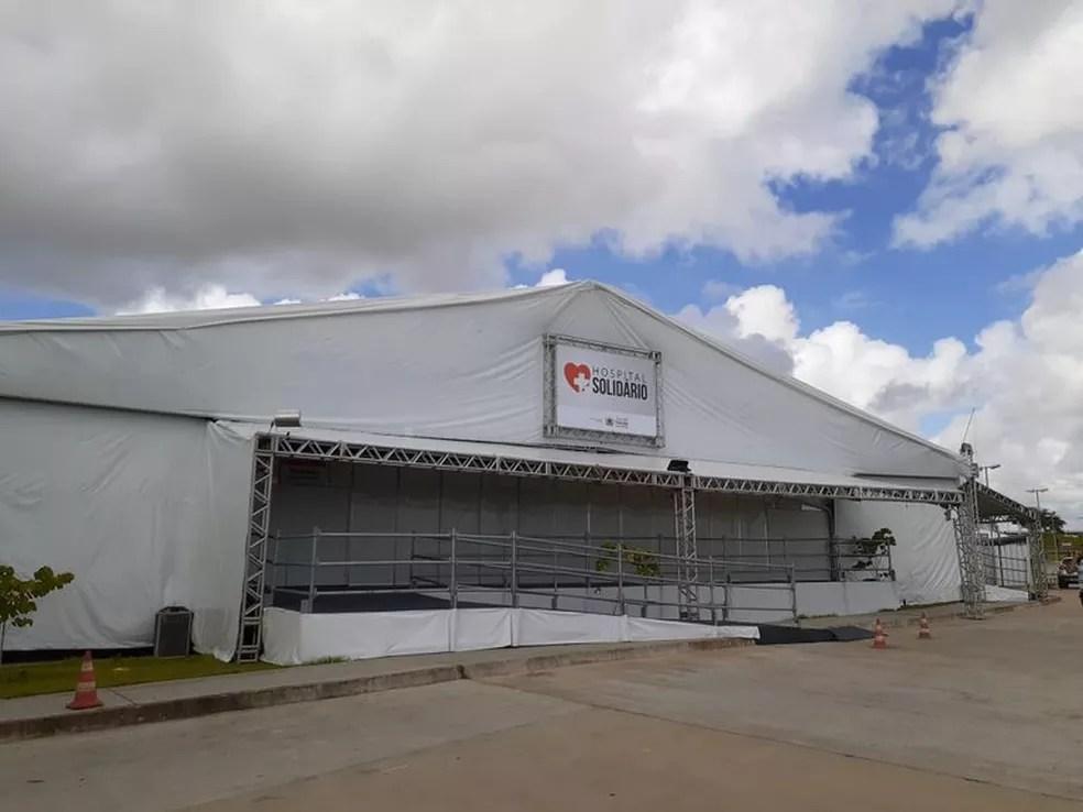 Hospital de Campanha foi construído em Santa Rita e começou a funcionar dia 20 de abril — Foto: Divulgação/Secom-PB