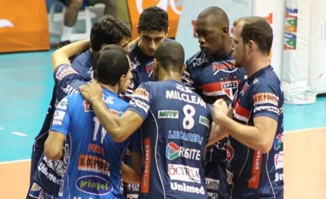 Vôlei São Paulo/Taubaté (Foto: Divulgação Funvic Taubaté/São Paulo FC)