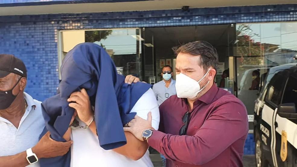 Preso suspeito de matar médico foi o amigo que registrou desaparecimento na delegacia — Foto: Aldo Matos / Acorda Cidade