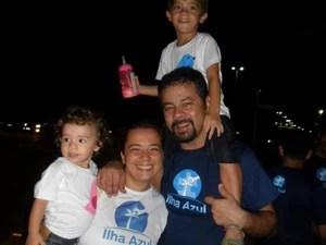 Grupo Ilha Azul, que desenvolve ações de esclarecimento sobre o autismo, existe desde 2012 (Foto: Arquivo pessoal)