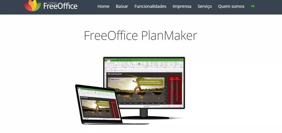 O FreeOffice PlanMaker permite inserção de imagens, desenhos, molduras de texto ou gráficos em 2D e 3D — Foto: Reprodução/Carol Fernandes