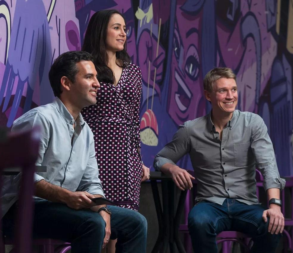 Cristina Junqueira, David Vélez y Edward Wible Premio Liderazgo Emprendedor Premios Bravo 2019