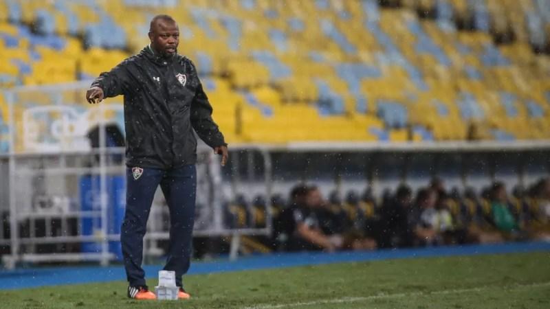 Marcão comandou o Fluminense na reta final do Brasileirão 2019  — Foto: Lucas Merçon