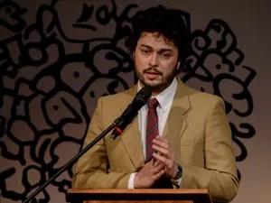 Paulo Wernerck, curador da Flip, fala durante aberta da edição 2014 da Feira Literária de Paraty. (Foto: Flavio Moraes/G1)