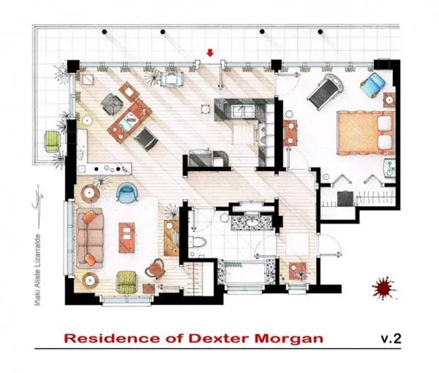 Apartamento de Dexter Morgan, da série Dexter (Foto: Nikneuk)