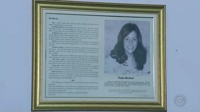 Paula Rached gostava de ler e foi homenageada tendo seu nome na Biblioteca de Pederneiras — Foto: Reprodução/TV TEM
