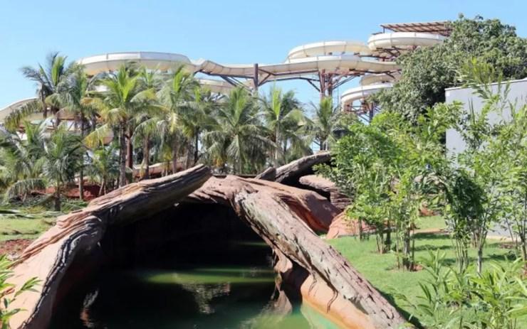 Hot Beach também fica em Olímpia e abriga brinquedos nacionais e importados (Foto: Divulgação)
