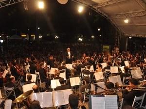 Orquestra Jazz Sinfônica de São João da Boa Vista se apresenta em Araras (Foto: Horácio Busolin Júnior/Secom)