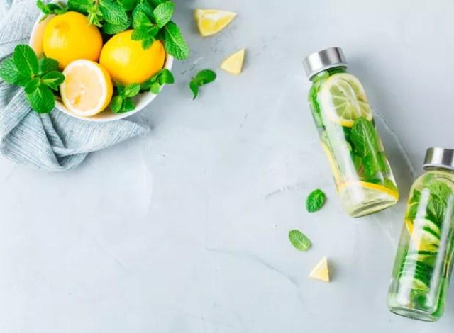 Água aromatizada com limão, pepino e hortelã (Foto: Divulgação)
