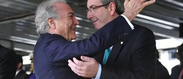 Resultado de imagem para imagens do ex-deputado eduardo cunha com temer