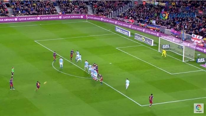 Messi gol falta Celta
