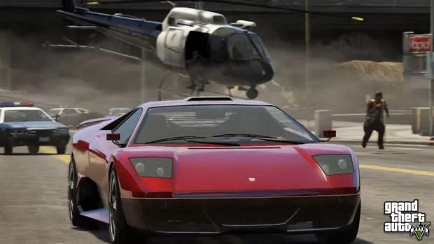 Perseguição de carro é destaque em novas imagens de 'GTA V' divulgadas (Foto: Divulgação)