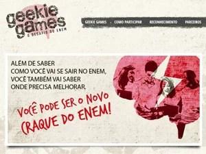 Site Geekie Games (Foto: Reprodução)