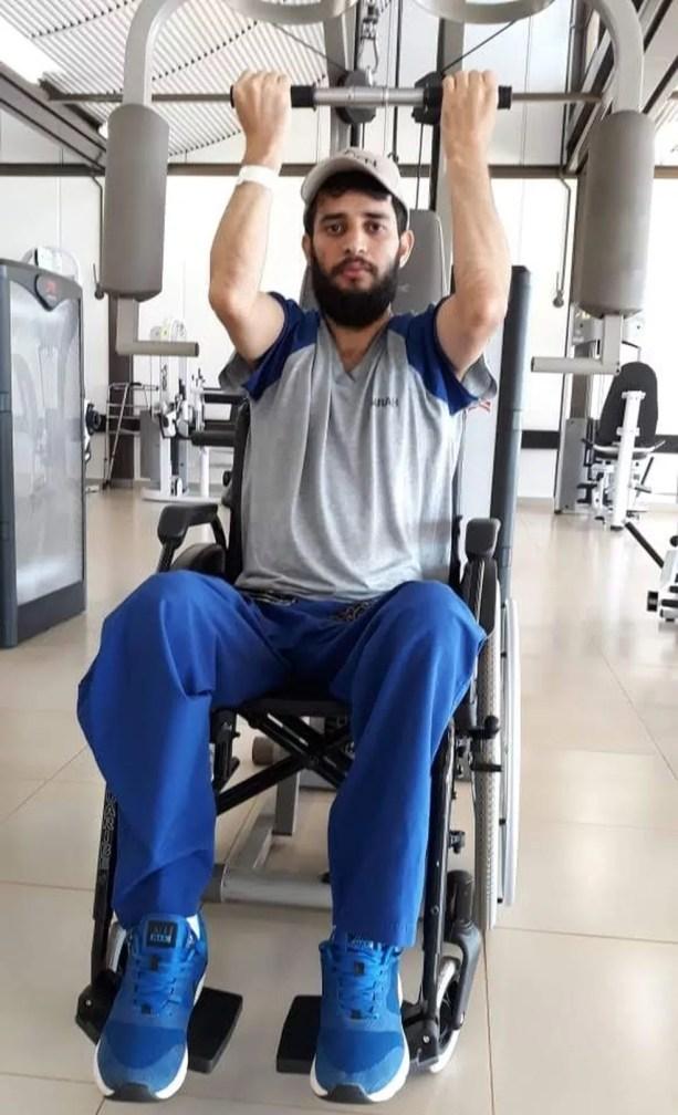 Airton passou dois meses em tratamento no Sarah Kubitschek de Brasília — Foto: Airton Ferreira/Arquivo Pessoal