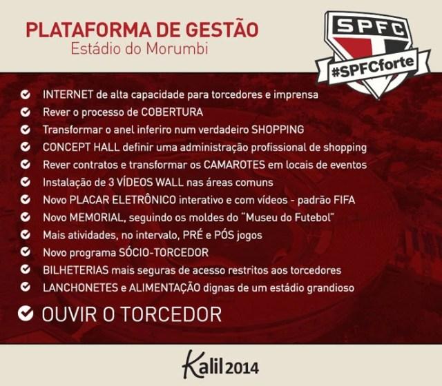 propostas Kalil Rocha Abdalla candidato da oposição à presidência do São Paulo (Foto: Reprodução)