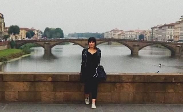 Jéssica durante visita à cidade de Florença, na Itália, quando morou em Bolonha como intercambista do Ciência sem Fronteiras — Foto: Arquivo pessoal/Jéssica Duarte