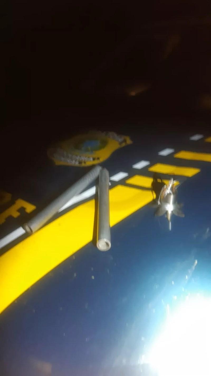 Armas encontradas com motorista na Lúcio Meira — Foto: Polícia Rodoviária Federal