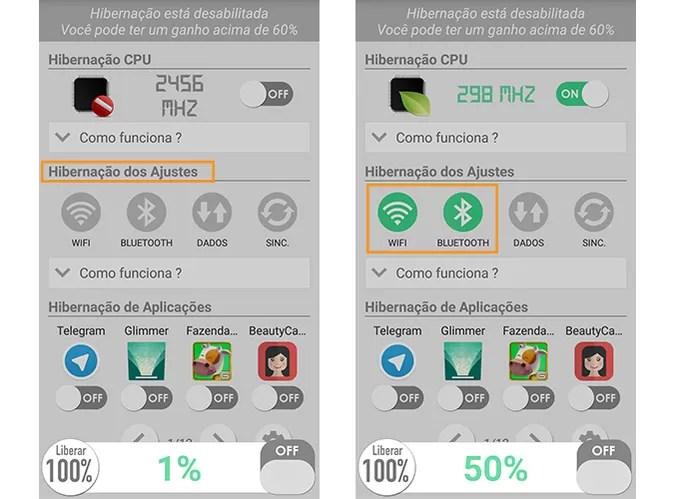 Escolha os serviços que deseja desativar quando apagar a tela do Android (Foto: Reprodução/Barbara Mannara)