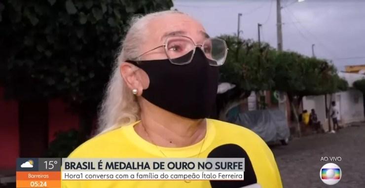 Katiane Ferreira, mãe de Ítalo Ferreira — Foto: Reprodução