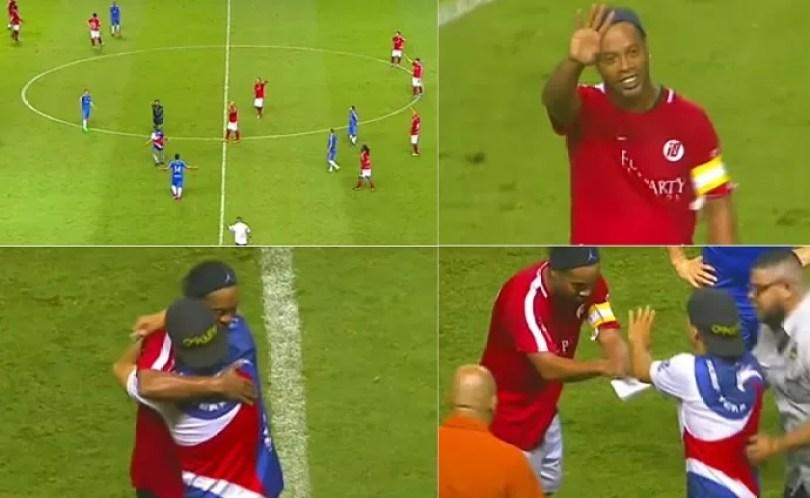 ronaldinhomontablog - Ronaldinho Gaúcho brilha em jogos comemorativos na América Central