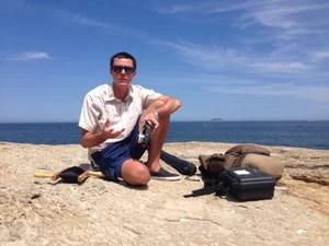 Evan Reinheimer, de 30 anos, veio ao Rio de Janeiro para mostrar uma técnica diferente para fotografar paisagens. (Foto: Cristiane Cardoso / G1)