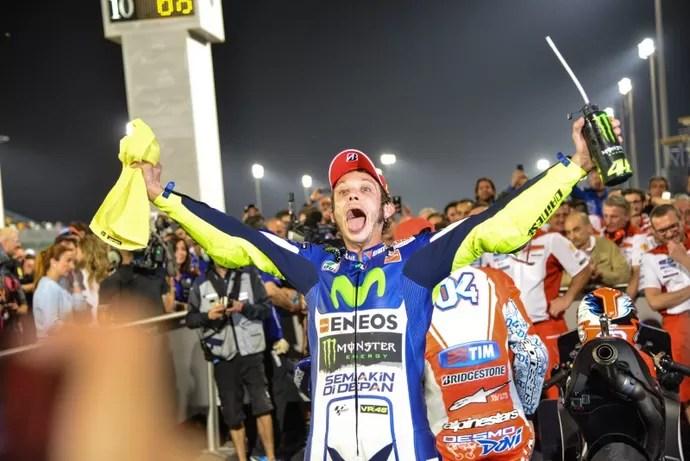 Valentino Rossi celebra marcante vitória no GP do Catar de MotoGP (Foto: Divulgação)