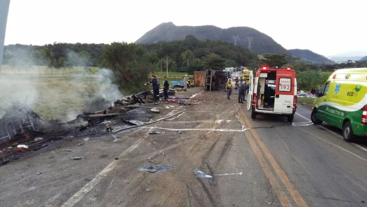 Local do acidente grave em Guarapari (Foto: A Gazeta)