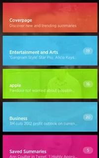 Aplicativo Summy funciona como um agregador de notícias para smartphones (Foto: Divulgação)