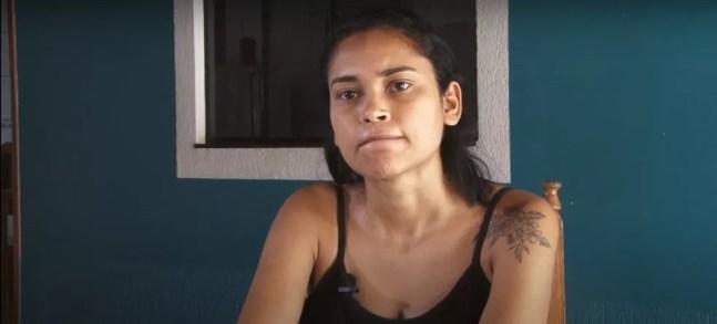 Genifer, filha de Lenilda, fala sobre morte da mãe no deserto — Foto: Rede Amazônica/Reprodução