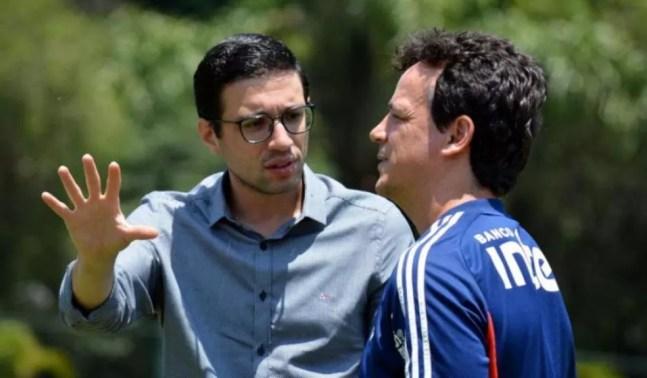Alexandre Pássaro e Fernando Diniz — Foto: Reprodução