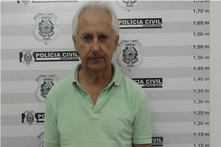 Marcos Andrade confessou o crime ao ser apresentado à polícia — Foto: Divulgação/ Polícia Civil