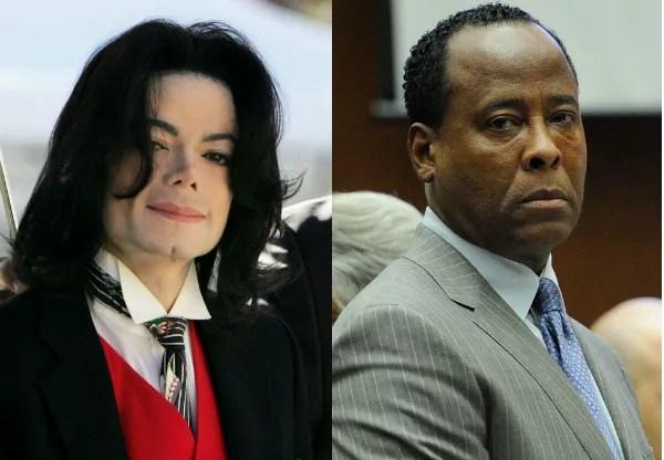O músico Michael Jackson e o mérido Conrad Murray (Foto: Getty Images)