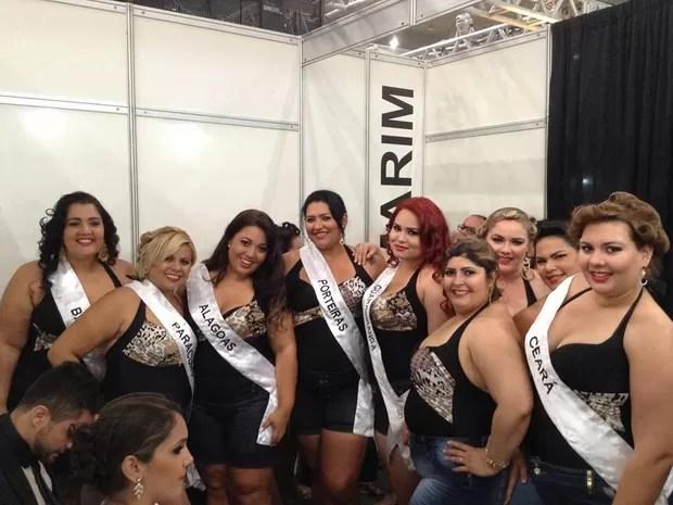 Candidatas nos bastidores do Miss Plus Size Norte-Nordeste (Foto: Divulgação)