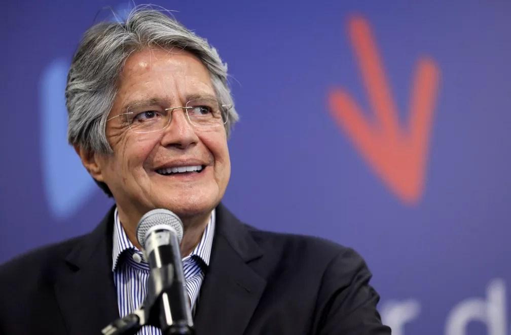 Presidente eleito do Equador, Guillermo Lasso, em foto de 12 de abril — Foto: Luisa Gonzales/Arquivo/Reuters