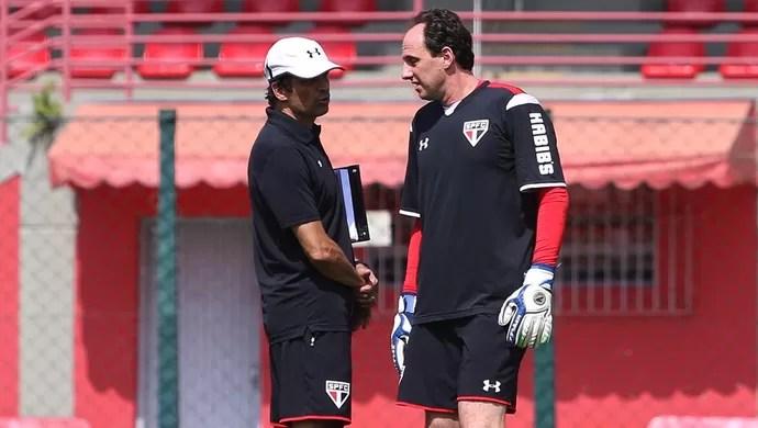Rogério Ceni Milton Cruz São Paulo (Foto: Rubens Chiri/saopaulofc.net)