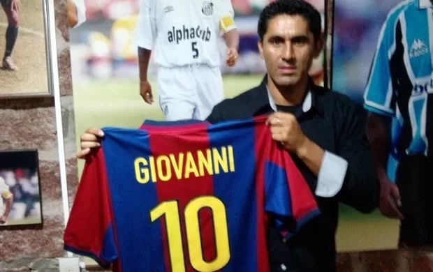Claudiomiro camisa Barcelona (Foto: Arquivo pessoal)