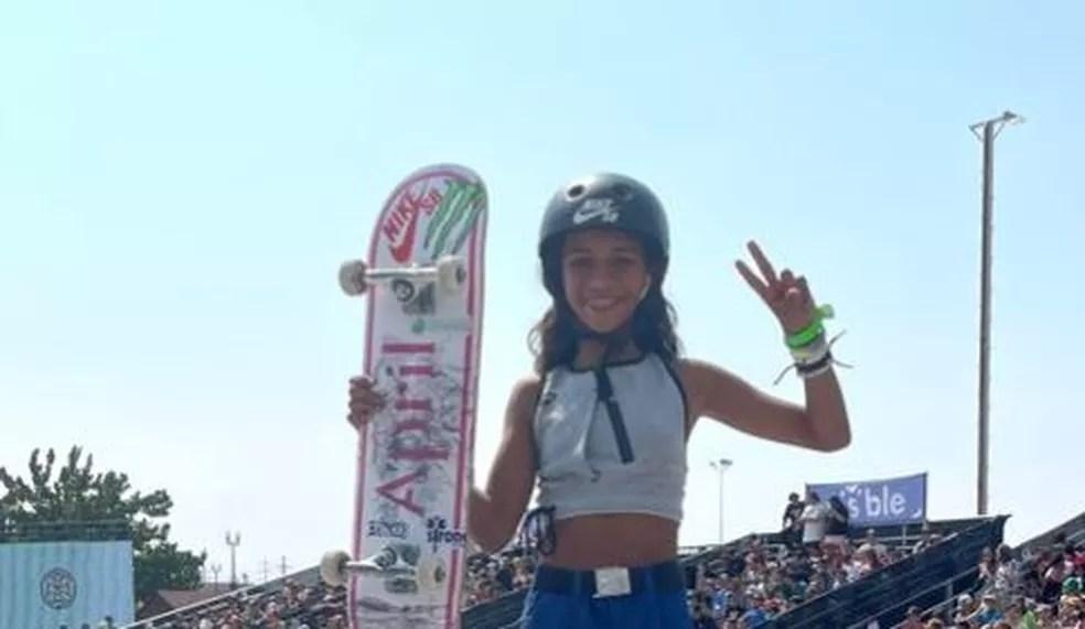 Rayssa Leal na Liga Mundial de Skate Street (SLS) — Foto: Divulgação/SLS