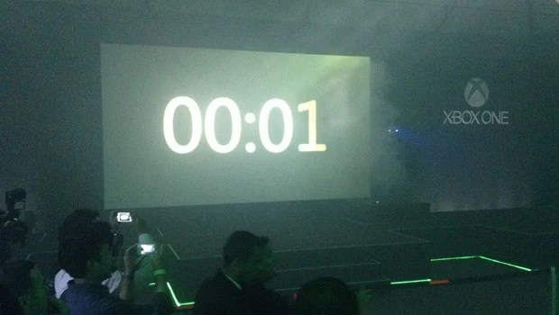 Microsoft instalou contador para o lançamento do Xbox One em evento (Foto: Gustavo Petró/G1)