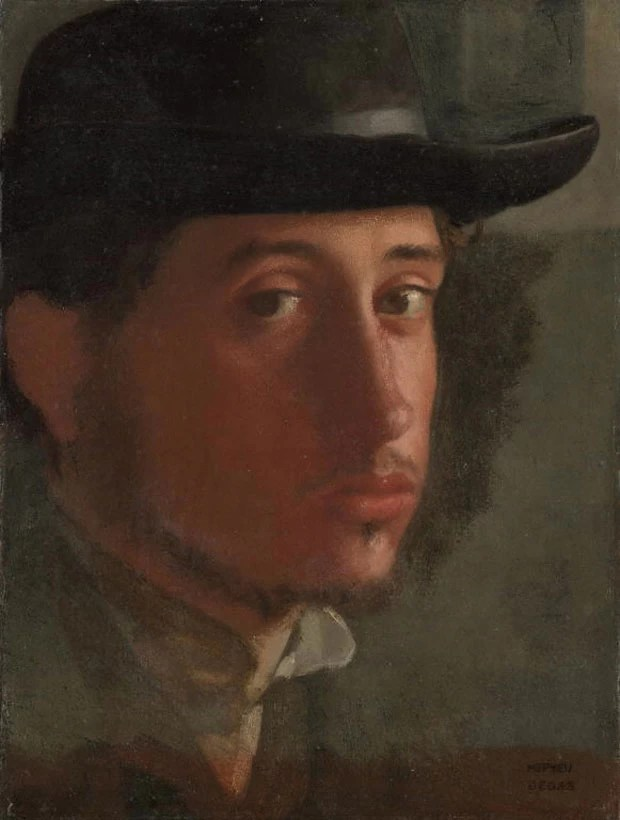 Autorretrato de Edgar Degas foi feito entre 1857 e 1858 (Foto: Cortesia/Getty's Open Content Program)